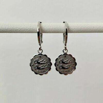 Sterrenbeeld oorbellen Tweelingen zilver