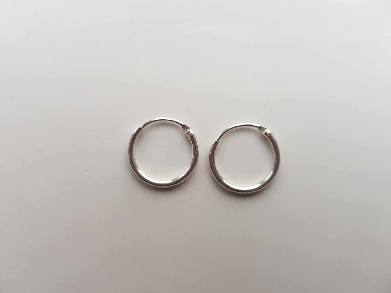 Oorringetjes 925 sterling zilver 12mm