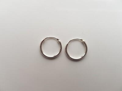 Oorringetjes 925 sterling zilver 10mm