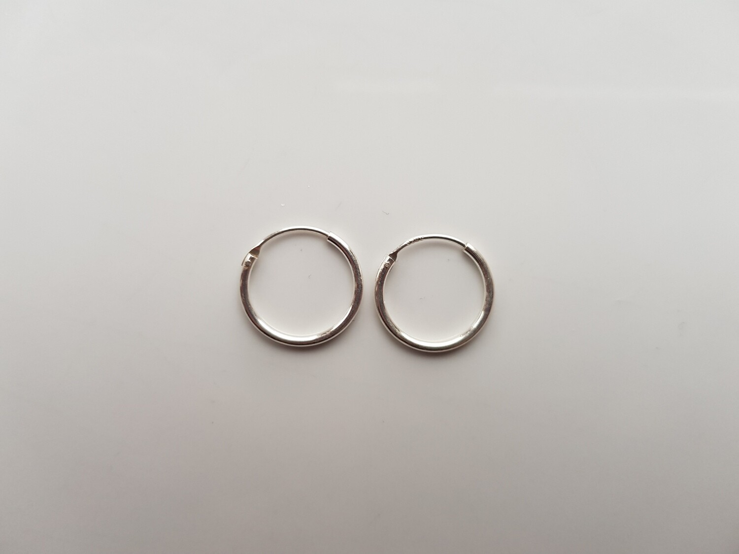 Oorringetjes 925 sterling zilver 12mm