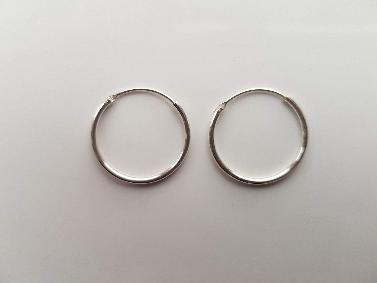 Oorringetjes 925 sterling zilver 18mm