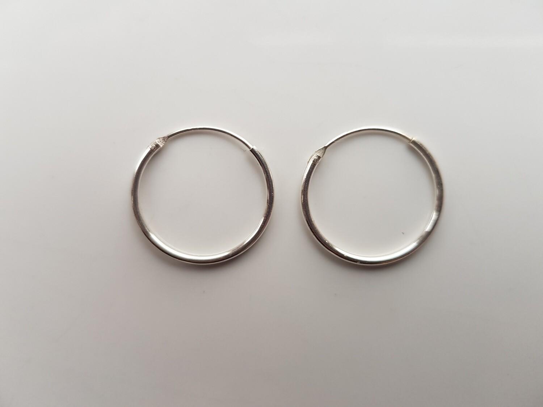 Oorringetjes 925 sterling zilver 20mm