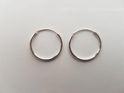 Oorringetjes 925 sterling zilver 18mm