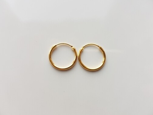 Oorringetjes 16mm goud