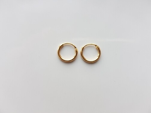 Oorringetjes 8mm goud
