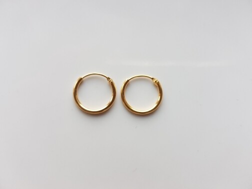 Oorringetjes 12mm goud