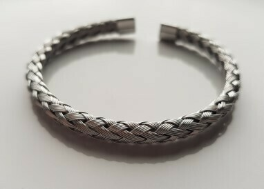 Braided armband zilver