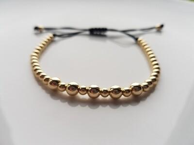 Small beads armband goud