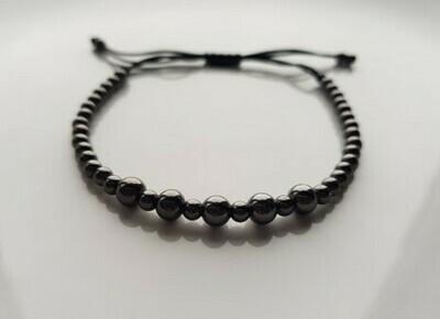 Small beads armband zwart