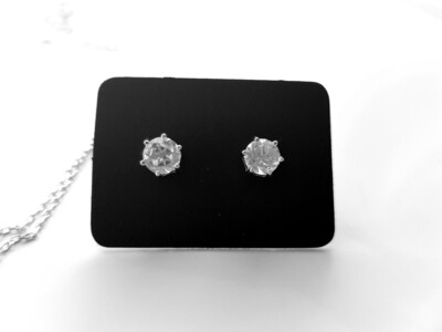 Wit topazs oorbellen 925 sterling zilver