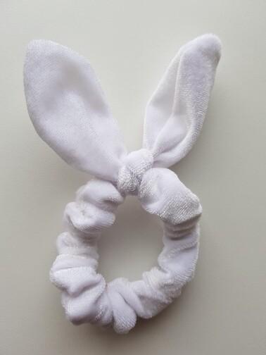 Bunny oortjes elastiek/scrunchie