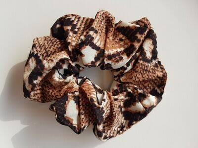 Snake print scrunchie