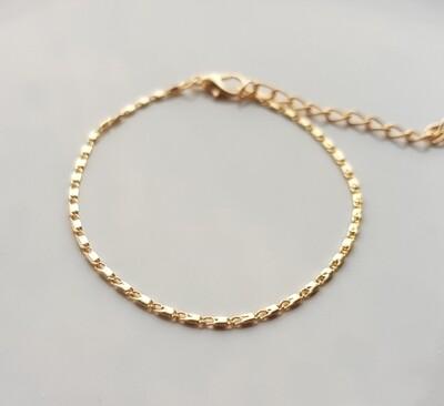 Tiny tubes armband goud