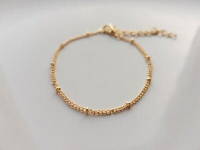 Tiny beads armband goud