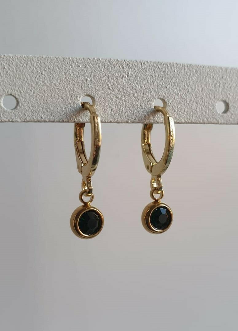 Tiny stone oorbellen goud 6 kleuren