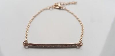 Small line armband goud