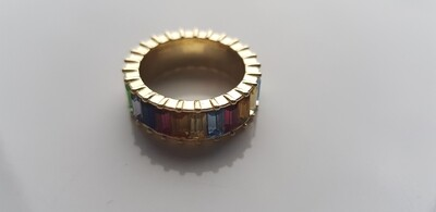 Colorful ring goud