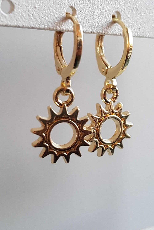 Mini rad oorbellen goud