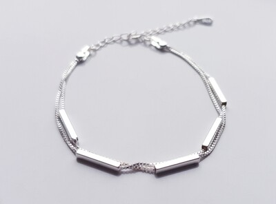 Tube armband 925 sterling silver