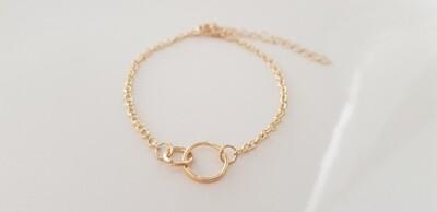 2 circle armband goud
