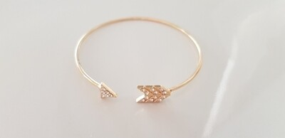 Shiny arrow armband goud