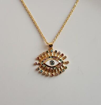 Eye ketting goud