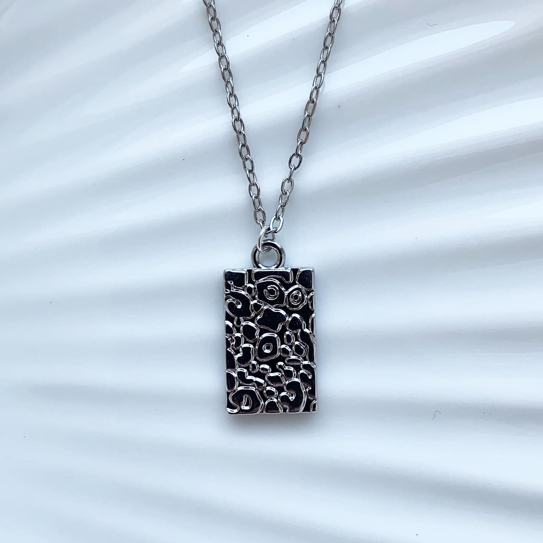 Panterprint ketting zilver