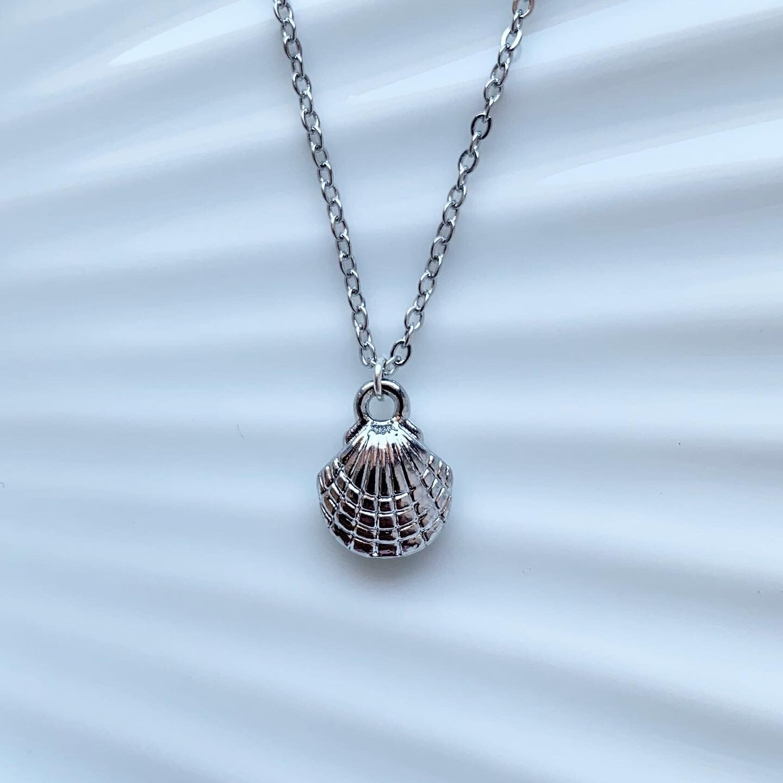 Seashell ketting zilver