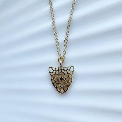 Leopard ketting goud