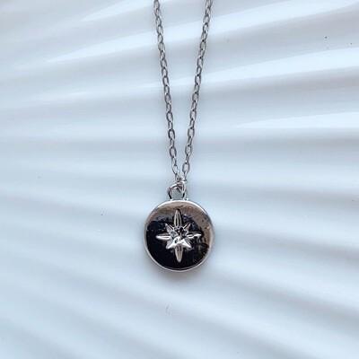 Falling star ketting zilver