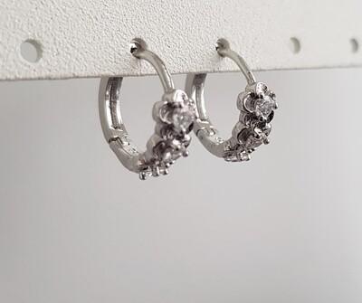 Flower oorringetjes 925 sterling zilver