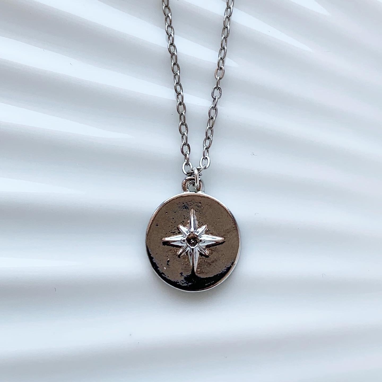 Shimmering star ketting zilver