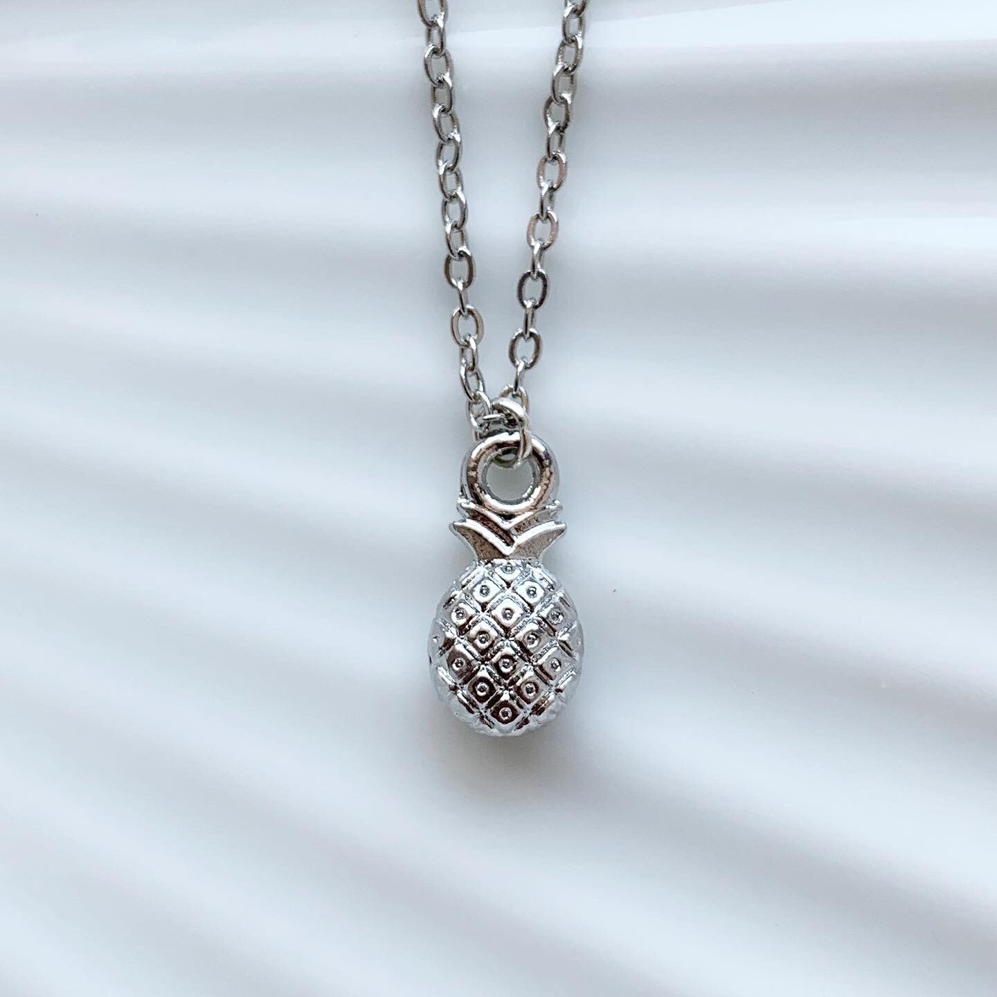 Pineapple ketting zilver