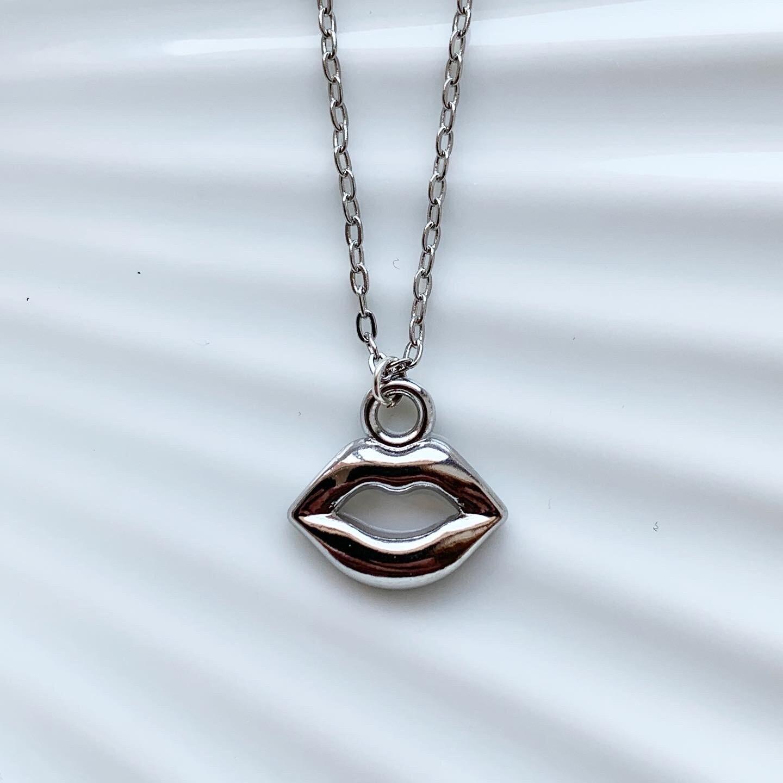 Lippen ketting zilver