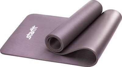 Коврик для йоги Starfit FM-301, Nbr, 183x58x1,0 см, серый