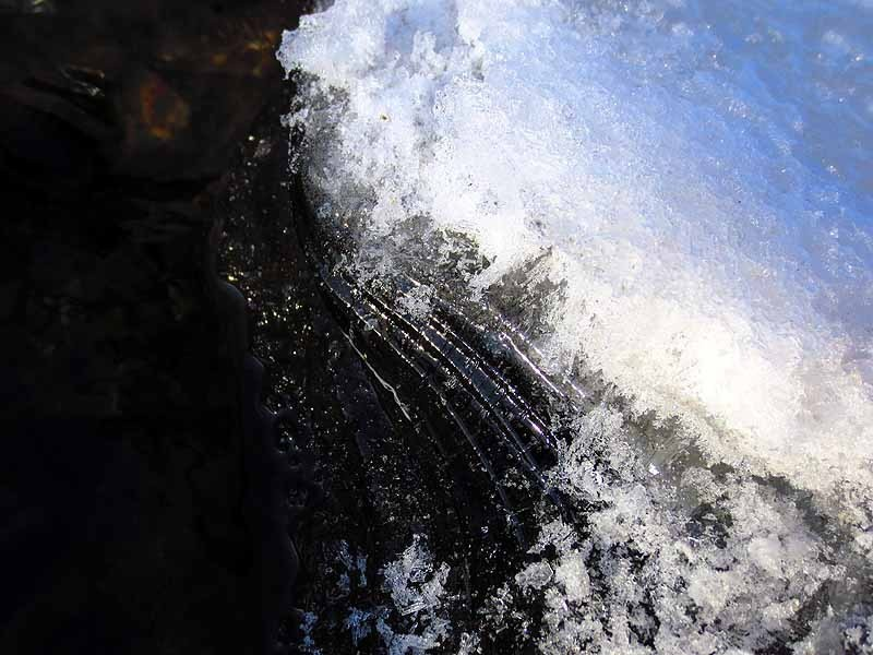 Water, Ice, Interface Golden Light Motor Mill Historic Park, IA January 2013