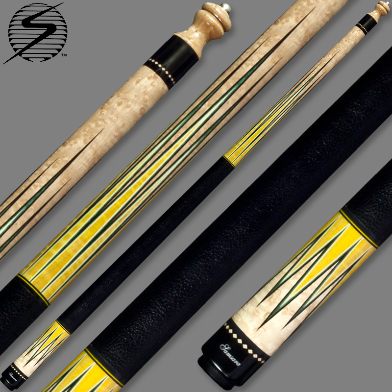 Samsara Original Cue #2345 - Birdseye Maple / Yellow Dyed Maple / Holly / Green Dyed Maple / Ebony SamsaraOrig-2345
