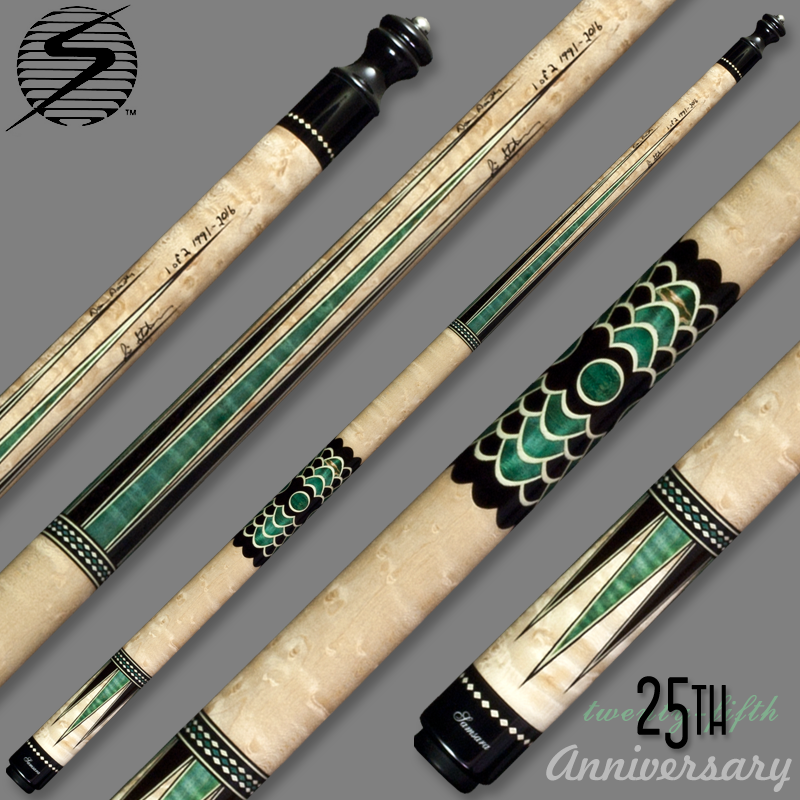 Samsara 25th Anniversary Cue - Green Wrapless Samsara25Green