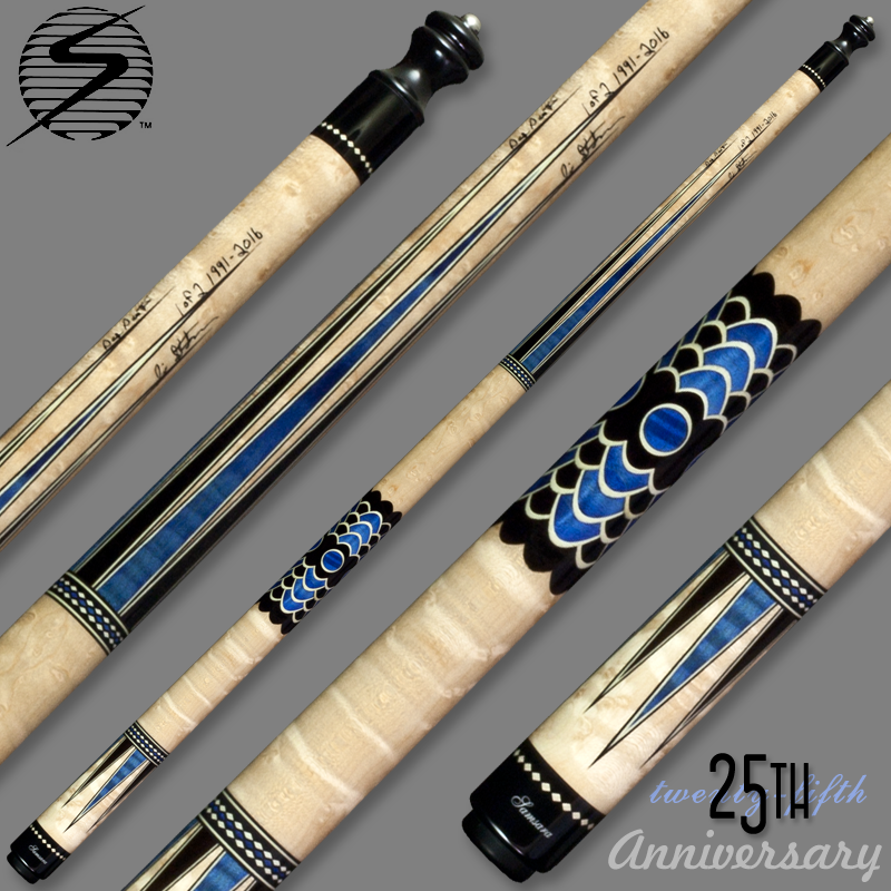 Samsara 25th Anniversary Cue - Blue Wrapless Samsara25Blue