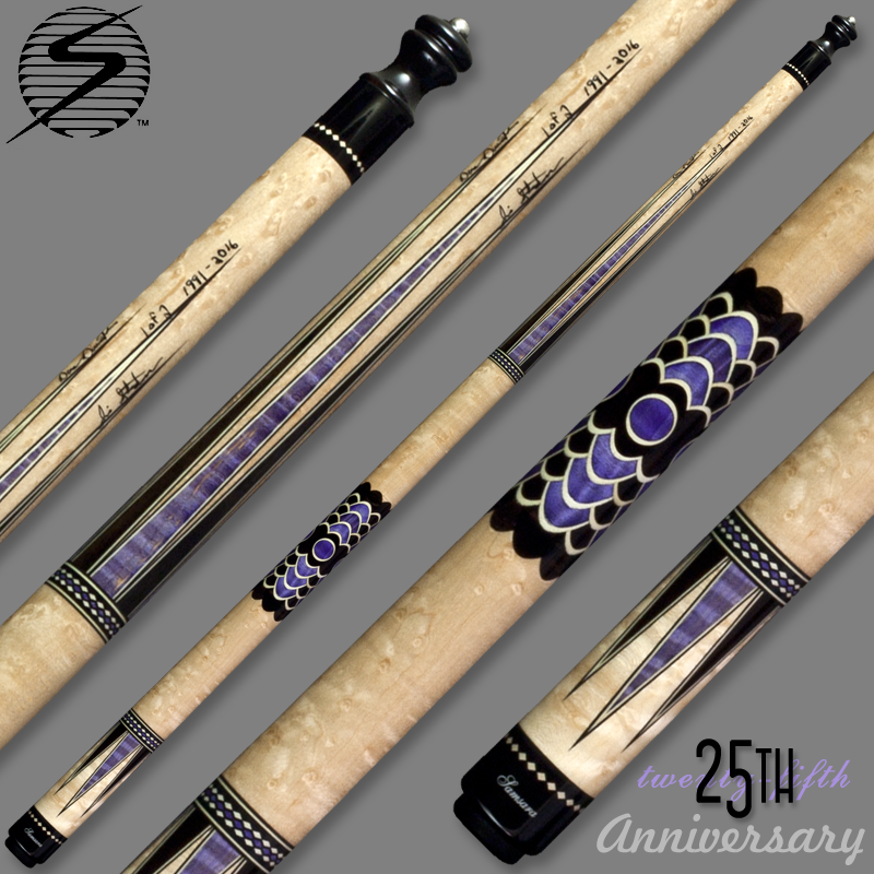 Samsara 25th Anniversary Cue - Purple Wrapless Samsara25Purple