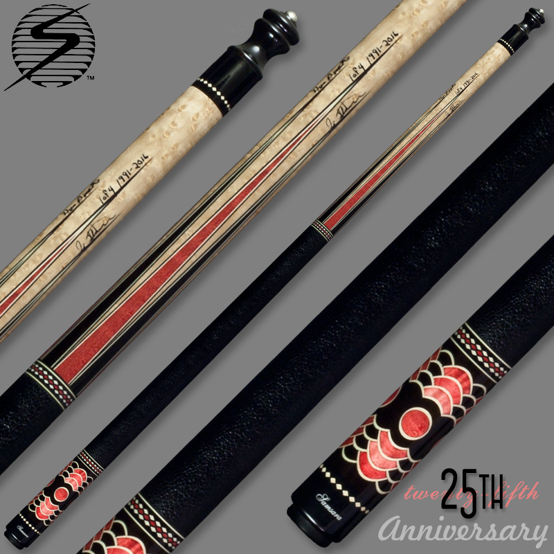 Samsara 25th Anniversary Cue - Red Wrapped Samsara25RedWrap