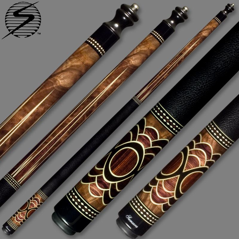 Samsara Original Cue #2392 - Figured Walnut / Camatillo / Holly / Ebony SamsaraOrign-2392