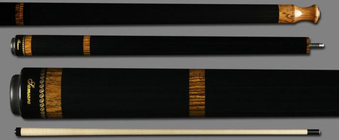 Samsara Break/Jump Cue - Ebonized w/ Black Leather Wrap BJ-EB-BLW