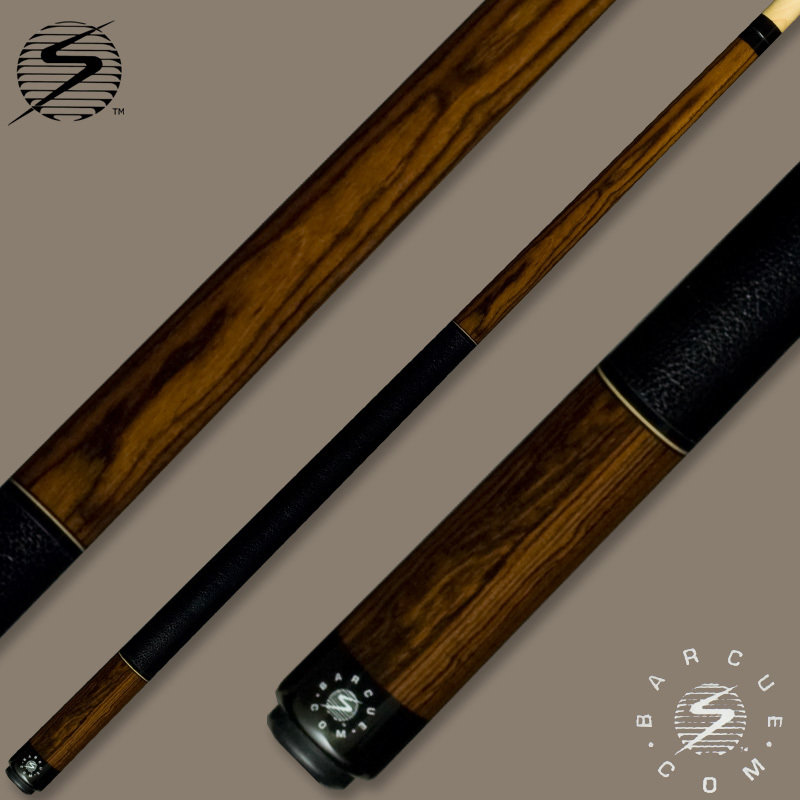 Samsara Bar Cue Series Bocote / Black Leather Wrap BQ-BO-BLW