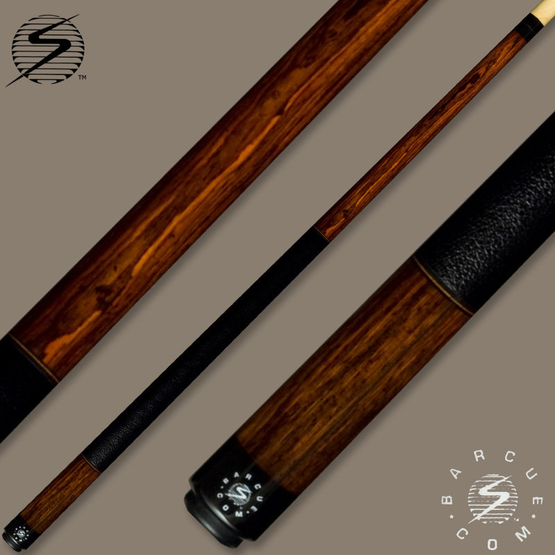 Samsara Bar Cue Series Cocobolo / Black Leather Wrap BQ-CB-BLW