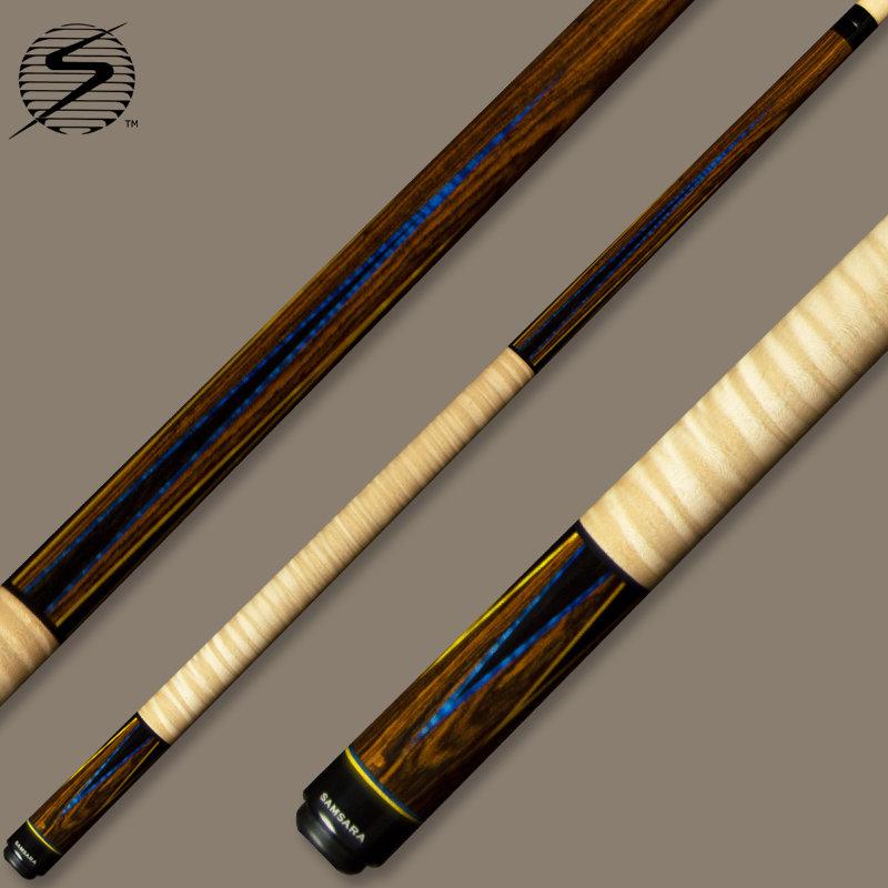 Samsara True Color Cue 418 - Ebony Blue & Yellow TC418