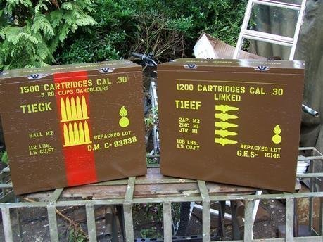 30 Cal Bandoleers ammo box stencil set for re-enactors ww2 army Jeep prop