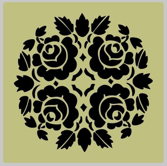 Floral (8) Shabby Chic furniture stencil