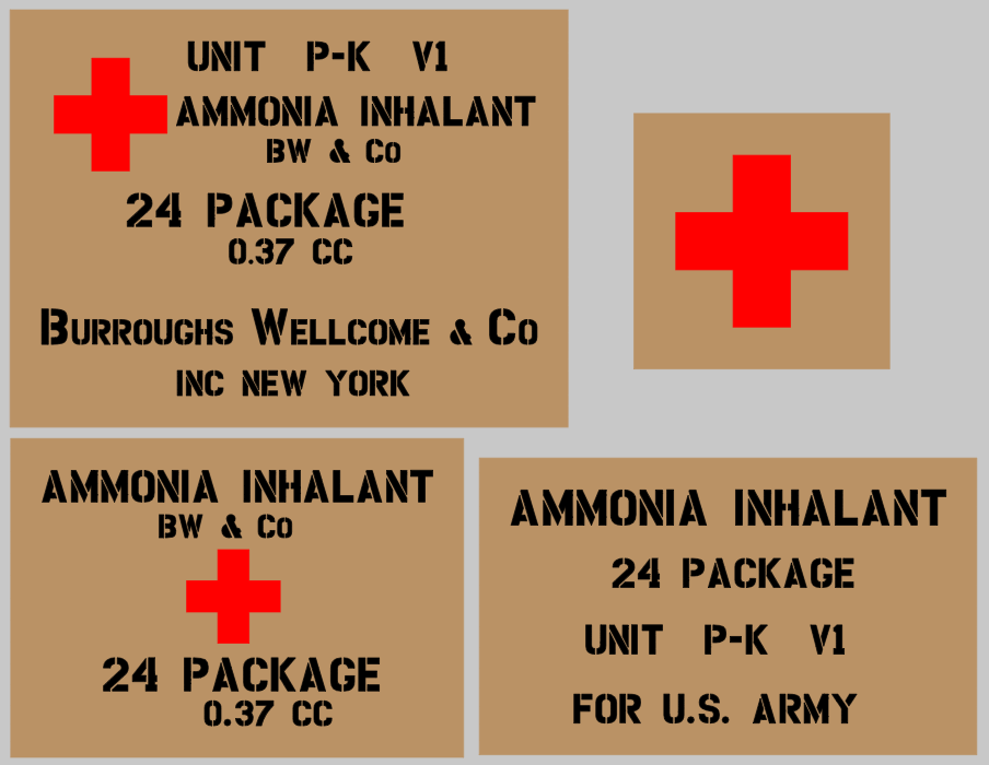 Medical stencil set (med 4) stencil set for re-enactors ww2 army prop