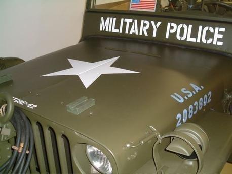 Windscreen stencils for wartime Jeep ww2